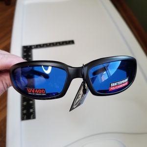 Men Motorcycle Sunglasses Glasses Blue Lens King